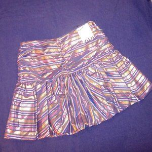size small metallic ribbon pouf mini skirt ZARA